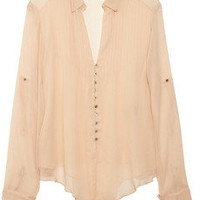 Elizabeth and James|Aaliyah silk-chiffon blouse|NET-A-PORTER.COM