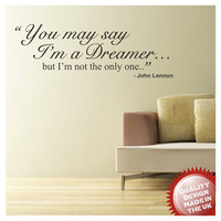 John Lennon dreamer lyric vinyl wall decal sticker