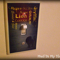 Wizard Inspired Lion House Light Switch Plate