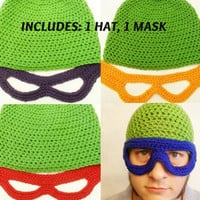 TMNT Inspired set. 1 Hat 1 Mask. You pick Color from With Love From Lucille