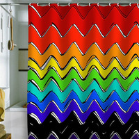 DENY Designs Home Accessories | Sharon Turner Rainbow Chevron Shower Curtain