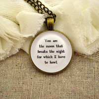 Florence and the Machine Howl Inspired Lyrical Quote Necklace