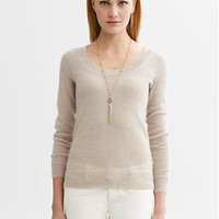Heritage metallic pullover | Banana Republic
