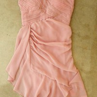 Pleats and Ruffles Dress in Peony [2501] - $36.00 : Vintage Inspired Clothing &amp; Affordable Fall Frocks, deloom | Modern. Vintage. Crafted.
