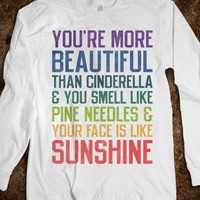 You're more beautiful (Bridesmaids Quote Long Sleeve) - The Winter Wear Shop