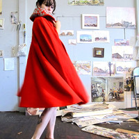 Little Red Riding Hood  Beautiful Scarlet Cape by GinnyandHarriot