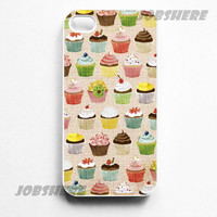 Cupcakes - iphone 4 case iphone 4s case iphone 4 hard case ihone 4 cover for apple iphone 4 iphone 4s