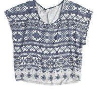 Fair Isle Knit-To-Woven Box Top