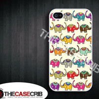 iPhone case Colorful Elephant Pattern iPhone 4s and iPhone 4 cover