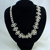 Japanese Chainmaille Sterling Silver Necklace
