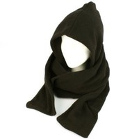 Amazon.com: Winter Fleece Hooded Scarf Pullover Headscarf Neckwarmer Hoodie Ski Hat Black: Clothing