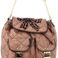 Amazon.com: Betsey Johnson BH68115 Backpack,Taupe,One Size: Clothing