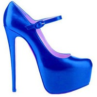 Christian Louboutin Lady Daf 160mm Mary Jane Pumps Blue - &amp;#36;195.00