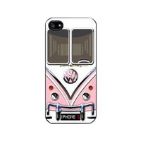 New iPhone 5 Case, Pink VW Camper Van Black Case- Please note if you order white Case