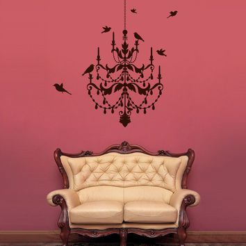 Vinyl Wall Sticker Decal Art  Chandelier Wall Decal by urbanwalls
