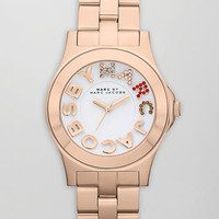 Pave MARC Rivera Watch, Rose Golden