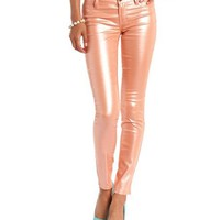 Shimmer Coated Skin Tight Legging: Charlotte Russe