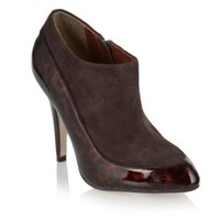 Chocolate brown tortoiseshell shoe boot - High heel boots - Shoes & boots - Women -
