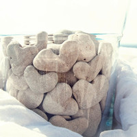 Unique Home decor  15 genuine  heart shaped by MedBeachStones