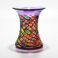 Optic Rib Cooling Tower Vase in Candy: Michael Trimpol: Art Glass Vase - Artful Home