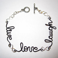 Live Love Laugh Infinity Bracelet
