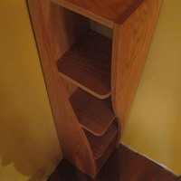 Handmade Corner Shelf with a Twist