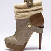 Fur-trim Bootie