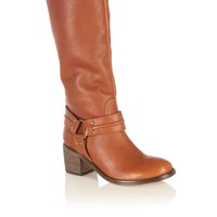 Oasis All Shoes | Tan Rosaline High Leg Leather Casual Boots | Womens Fashion Clothing | Oasis Stores UK