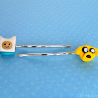 Adventure Time Jake and Finn Bobby Pins Hair - 2pc. set
