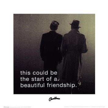 Casablanca - iPhilosophy - Beautiful Friendship poster for sale at PosterHero.com