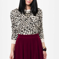 Royal Highness Wine Red Velvet Skirt