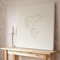 personalised &#x27;falling in love&#x27; canvas by gorgeous graffiti | notonthehighstreet.com