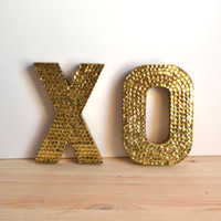 Mini Sequin XO Letters For Wedding or Decor