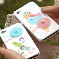 Apple iPhone 4 3GS Icecream and Necklace 3D Shell Skin by gullei