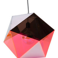 icosahedron pendant - pink/smoke - ABC Carpet & Home