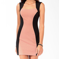 Colorblocked Zipper Back Dress