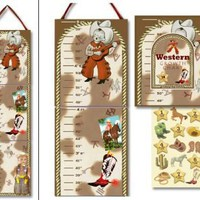 Western Tots Cowboy Growth Chart - Dolce Mia Vintage Everyday Beauty, Gifts & Stationery