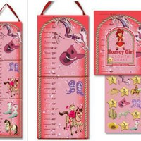 Horsey Girl Growth Chart - Dolce Mia Vintage Everyday Beauty, Gifts & Stationery