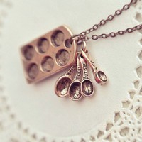 the little baker necklace in antiqued copper by bellehibou on Etsy