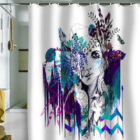 DENY Designs Home Accessories | Holly Sharpe Tribal Girl Colourway Shower Curtain