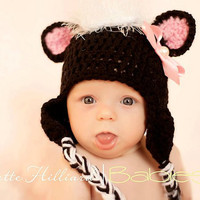 CROCHET PATTERN Stinkin cute skunk hat by CrochetMyLove on Etsy