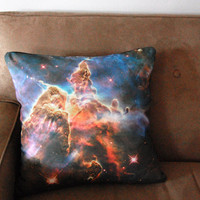 Galaxy Nebula Print Accent Pillow Cover Space Throw Pillow