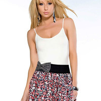 Floral Print Skirt With Rhinestone | Sexy Clothes Womens Sexy Dresses Sexy Clubwear Sexy Swimwear | Flirt Catalog