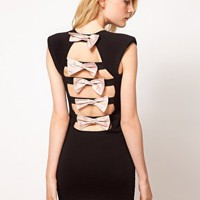 Renee Dress With Bow Back at asos.com