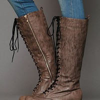 Free People Corey Lace Vegan Boot