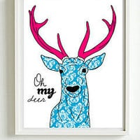 oh my deer luxury poster or canvas print. by i love design | notonthehighstreet.com