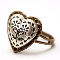 Mixed Metal Love Ring - all you need is love