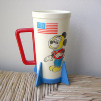 Vintage Mickey Mouse Astronaut Cup by VintageWoods on Etsy