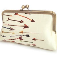 Red Ruby Rose — Arrows - A Red Ruby Rose original silk-lined clutch bag