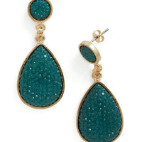 Droplet Like It's Haute Earrings in Forest | Mod Retro Vintage Earrings | ModCloth.com